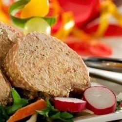 Tranche de cou de canard farci au foie gras