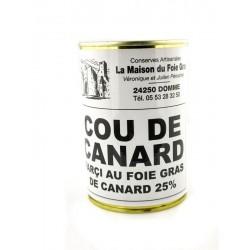 Cou de canard farci au foie gras 400 g
