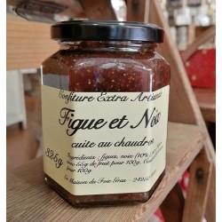 Délicieuse confiture extra figue et noix cuite au chaudron 325 g